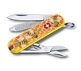 "Нож перочинный Victorinox Classic ""Honey Bee"" 58мм 7функций (0.6223.L1702)"